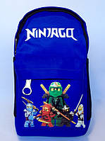 Рюкзак дошкольный для мальчика Ninjago синий