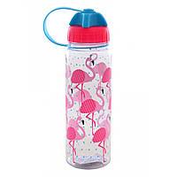"Бутылка для напитков пластик ""YES"" 500мл ""Flamingo"" 706125"