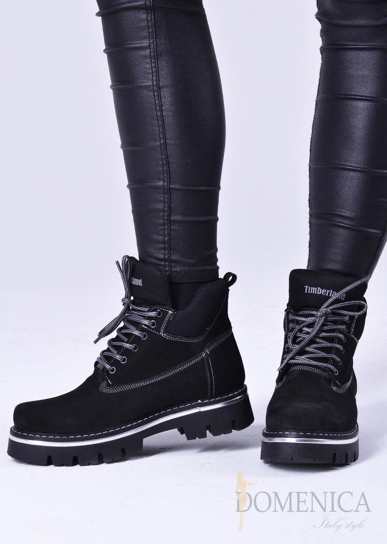 6e6cd343 Женские осенние ботинки Timberland, выполненные из натурального нубука.