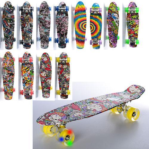 Скейт пенни PENNY BOARD  MS 0748-5, светящиеся колеса