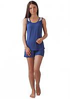 Летняя женская пижама с майкой и шортами (S-XL)