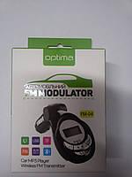 FM Modulator Optima FM-04 (Bluetooth, MicroSD, USB, Aux in)