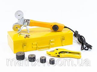 Аппарат для сварки пластиковых труб DWP-750, 750Вт, 0-300 град., 4 насадок, 20 - 40 мм DENZEL  94203