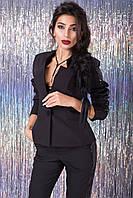 Женский черный пиджак Арон Luzana 42-50 размеры