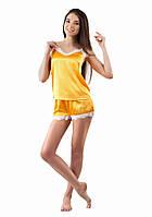 Атласная пижама женская с шортиками (XS-L)