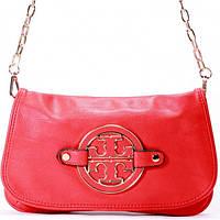 Женская сумка - клатч Tory Burch  красный