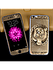 Защитное стекло с рисунком тигра на 2 стороны для Iphone 5/5S золото