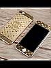 Защитное стекло с рисунком шанель на 2 стороны для Iphone 5/5S серебро
