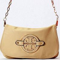 Женская сумка - клатч Tory Burch  абрикосовая