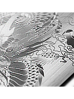 Защитное стекло с рисунком дракона на 2 стороны для Iphone 6/6S Plus серебро, фото 1