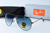 Солнцезащитные очки Rb серые  переходом на черное, фото 1