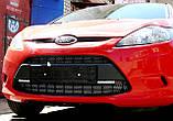 Декоративно-захисна сітка радіатора FORD FIESTA бампер, фото 4