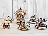 """Миниатюрный керамический набор посуды """"Кофейный сервиз"""". 15 предметов., фото 1"""