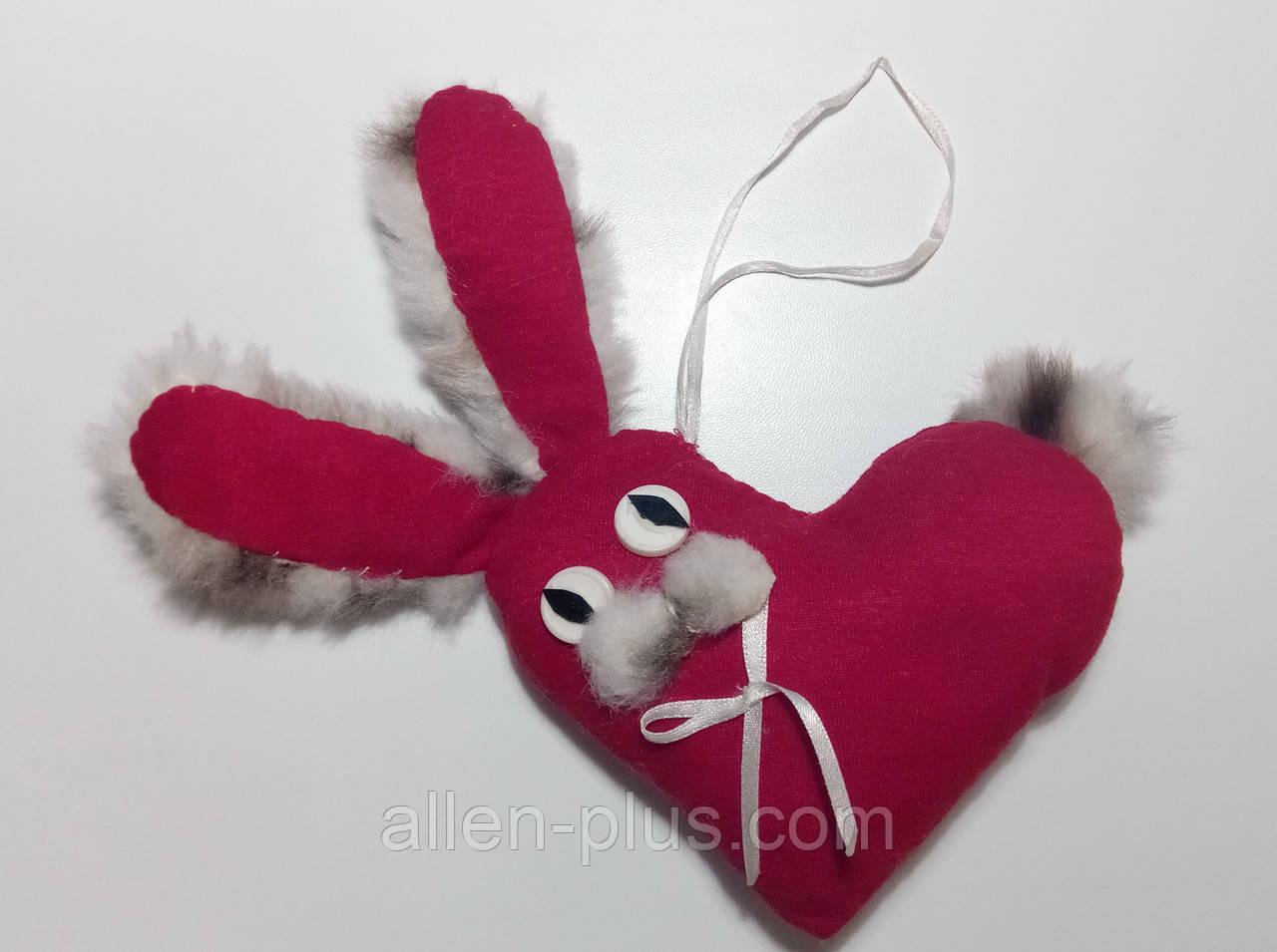 Мягкая игрушка ручной работы Зайчик-Валентинчик