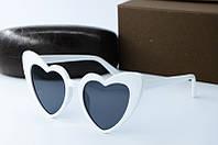 Солнцезащитные очки YSL белые, фото 1