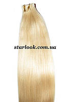 Натуральные волосы для ленточного наращивания 52 см. Оттенок №613.