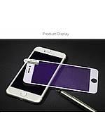 Защитное стекло Rock для Iphone 7 (Full Tempered glass 2.5D, 0.23mm Anti-Blue Light) white
