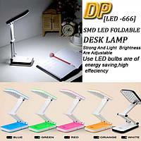Аккумуляторная настольная светодиодная лампа - трансформер для маникюра, рабочего стола, фото 4