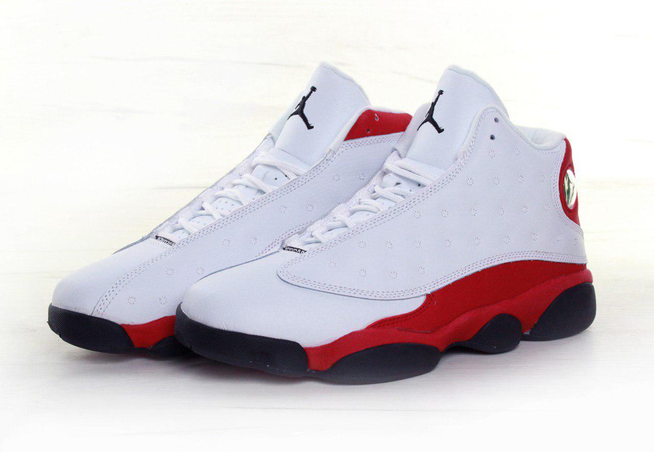 e933d5f6 Кроссовки мужские Nike AIR Jordan 13 Retro Black White Red, найк джордан -  интернет-