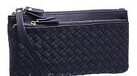 Женские бумажники и кошельки с карманом для телефона 19*9 (черный)