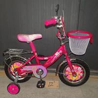 """Велосипед Mustang Princess 12"""" с корзинкой"""