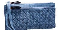 Женские бумажники и кошельки с карманом для телефона 19*9 (синий)