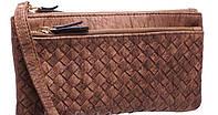 Женские бумажники и кошельки с карманом для телефона 19*9 (коричневый)