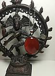 Кулон из Сердолика натуральный камень, большой медальон (без цепочки), тм Satori, фото 2