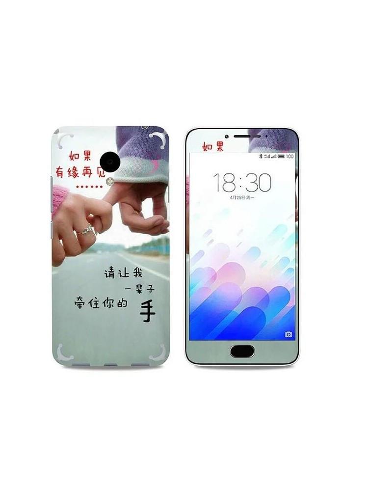 Защитное стекло с рисунком carbon fiber для Meizu M3 Note 07
