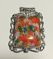 Кулон Муранское стекло, подвеска, медальон (без цепочки), тм Satori