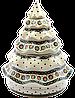Рождественская Ёлка большая конфетница Ø26 керамическая Art Lawn