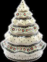 Рождественская Ёлка конфетница Ø26 керамическая Art Lawn