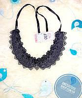 Ожерелье воротник черного цвета с бусинами