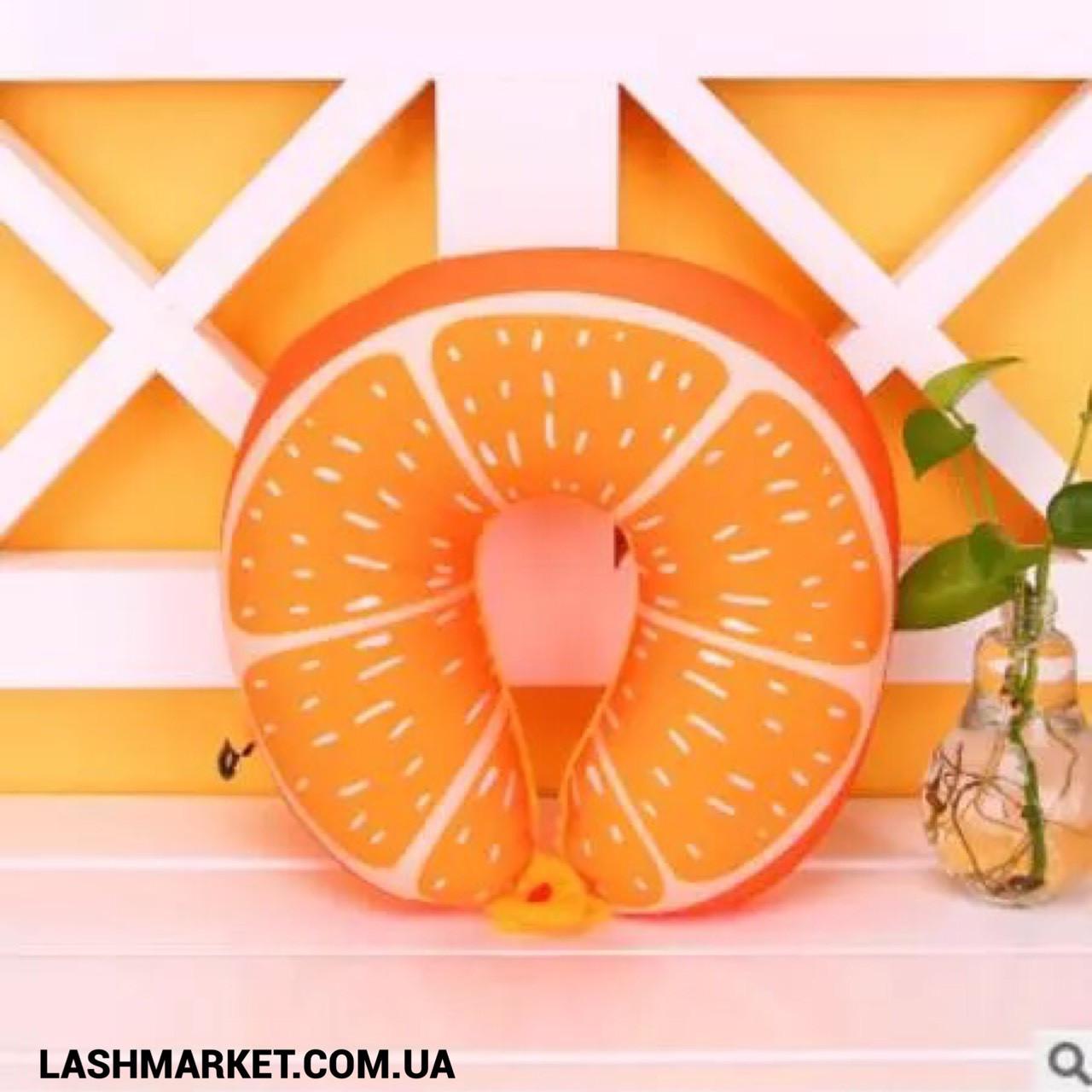 Подушка под голову - подкова (апельсин)