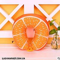 Подушка под голову - подкова (апельсин), фото 1