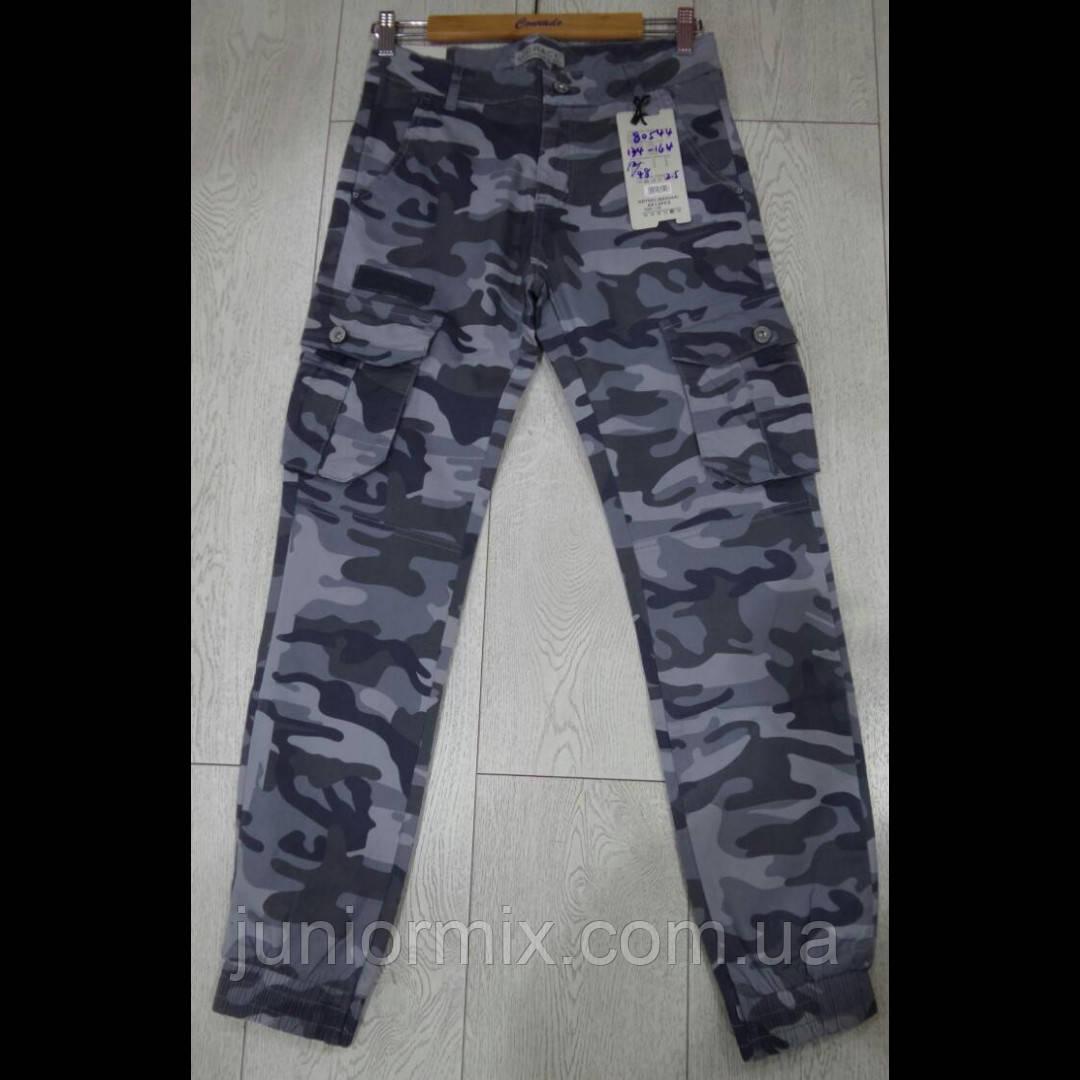 Оптом подростковые камуфляжные брюки на манжетах для мальчиков  GRACE