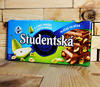 Шоколад Студенческая печать, молочный со вкусом груши (Studentska mlecna s chuti hrusek)