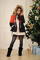 Женская теплая зимняя куртка С М L +большие размеры