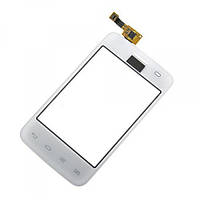Тачскрин (сенсор, экран) LG E435 белый