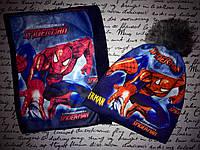 Комплект шапка и бафф Человек Паук Spiderman на флисе