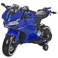 """Трёхколёсный детский электромотоцикл HL-Е69 24 v 350 w""""Трайк"""" (Ссиний, красный, чёрный). Al."""