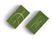 Дизайн индивидуальных (частных, личных) визиток (для частного лица)