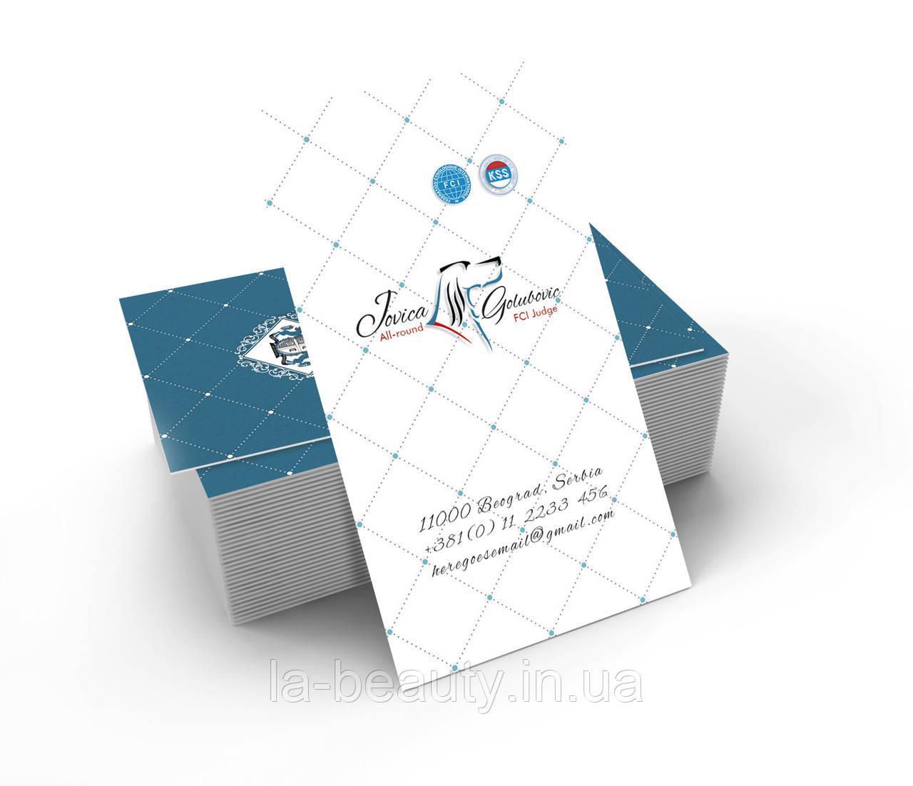Дизайн визиток судьи (эксперта) FCI
