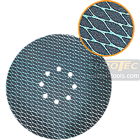Шлифовальный круг 225 мм на липучке, ромбовидный наждачный круг с отверстиями, наждачка для шлифмашины жираф, фото 1