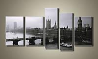 Картина модульная HolstArt Tower of London 79*155см 5 модулей арт.HAB-005