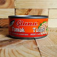 Консервированный тунец Giana Tuna в масле 185г