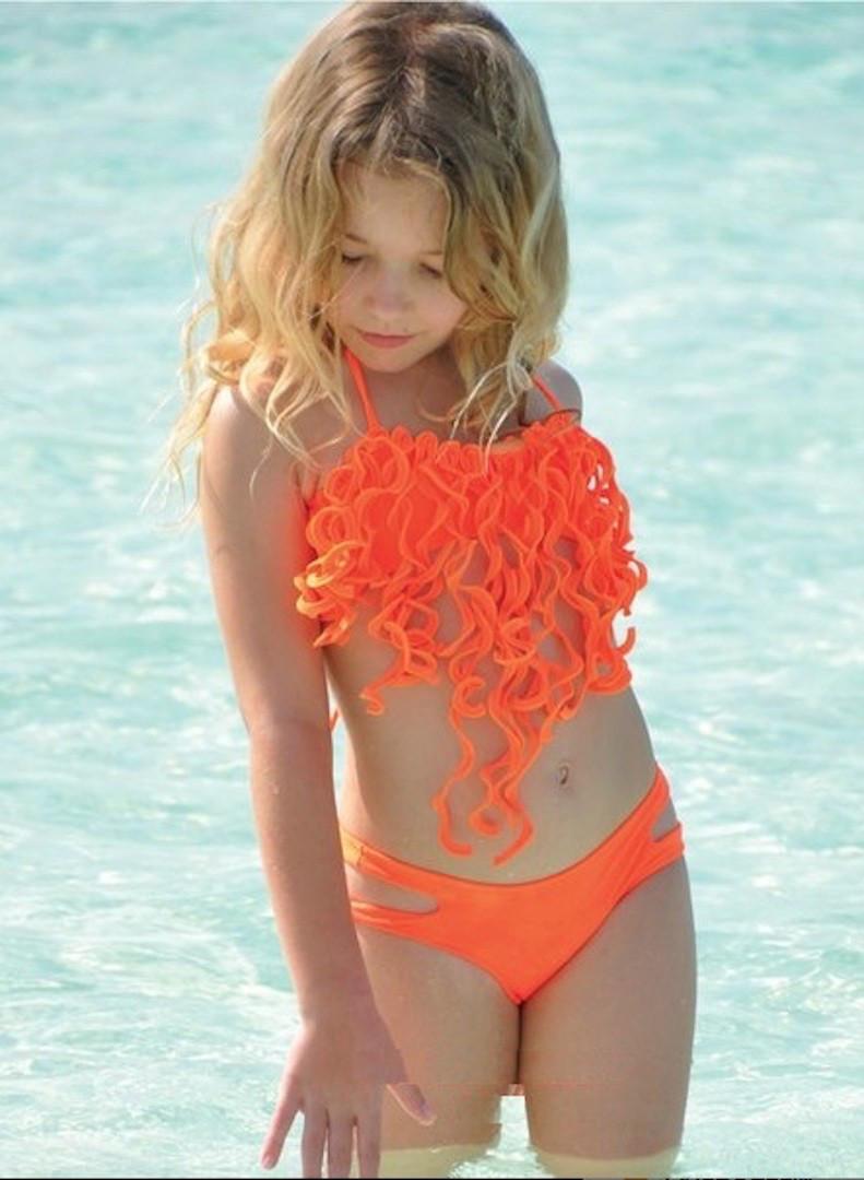 65a662657237e Купальник для девочки BAEL Осьминожка 5515 116 Оранжевый BAEL 5515 -  Интернет магазин купальников и пляжной