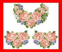 """Вышиванка сорочка женская, вышивка бисером, габардин, """"Персиковые розы и сирень"""""""