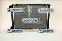 Радиатор охлаждения 3302, 2705, 2217, Газель Бизнес штырь 2-рядный алюминиевый Лузар ГАЗ-2752 (доп. с дв. ЗМЗ Е 3) (LRc 03027b)