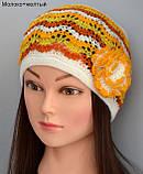 Весенняя ажурная шапка на девочку с цветком, фото 4